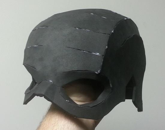 Foam Captain American Helmet prop glued up